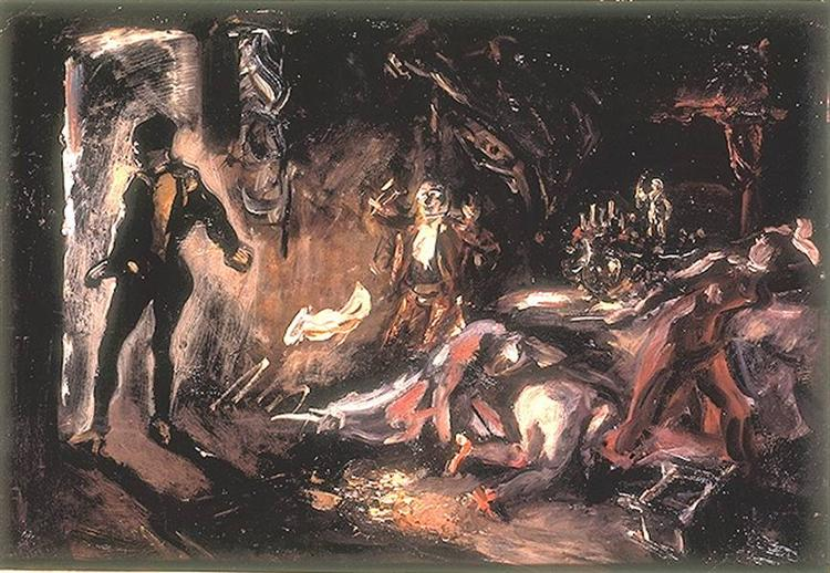 Don Juan's Encounter with the Stony Gues, 1906 - Max Slevogt