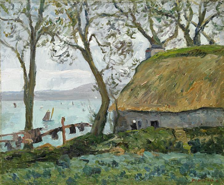 A cottage with thatched roof in Douarnenez, 1898 - Maxime Maufra