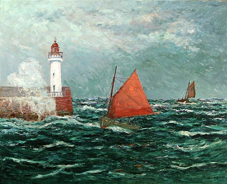 Back to Fishing boats in Belle-Isle-en-Mer, 1910 - Maxime Maufra