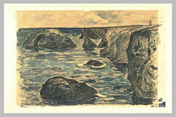 Cliffs of the wild coast, 1910 - Maxime Maufra