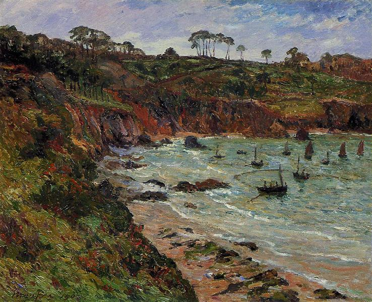 Fishing for Sprats in Winter at Douarnenez, 1905 - Maxime Maufra