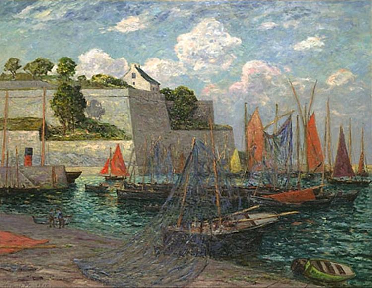 Port castle of Belle-Ile, 1910 - Maxime Maufra