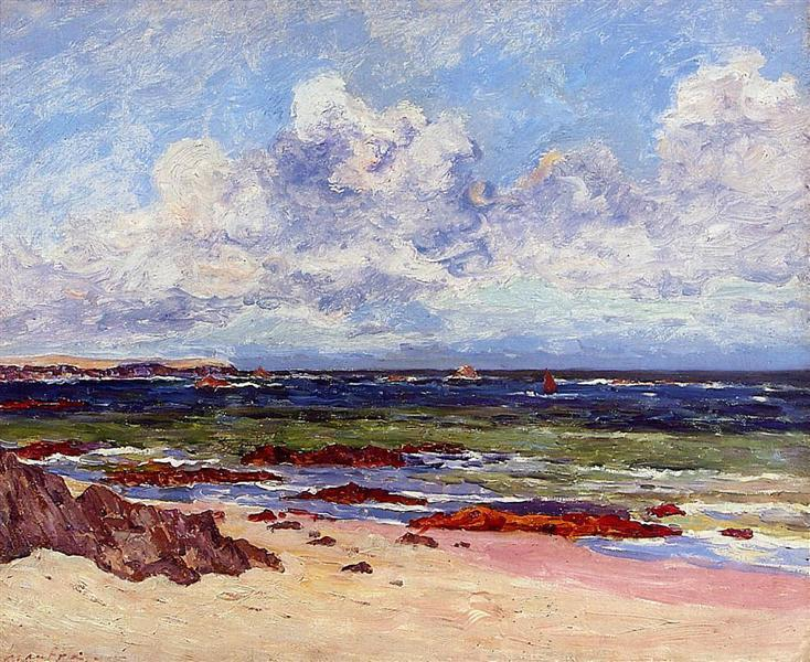 The Coast at Fort Penthievre, Quiberon Peninsula - Maxime Maufra