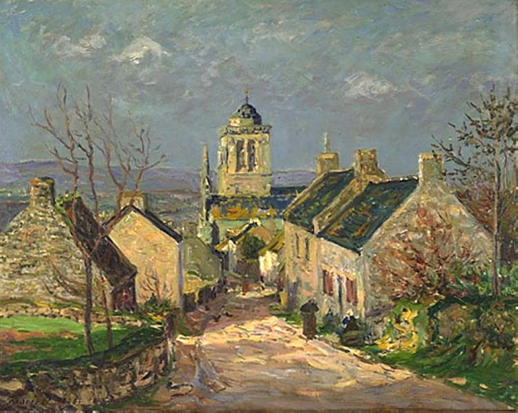 The descending street at Locronan, 1906 - Maxime Maufra