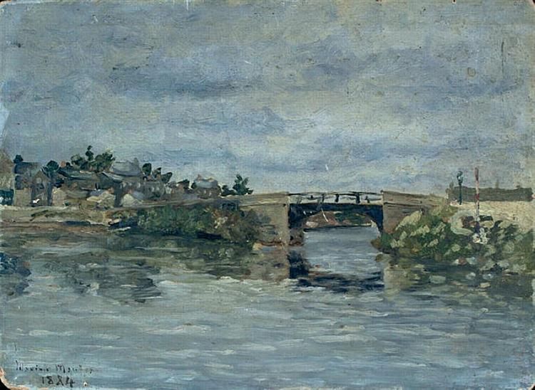 The old Bridge in Barbin, 1884 - Maxime Maufra