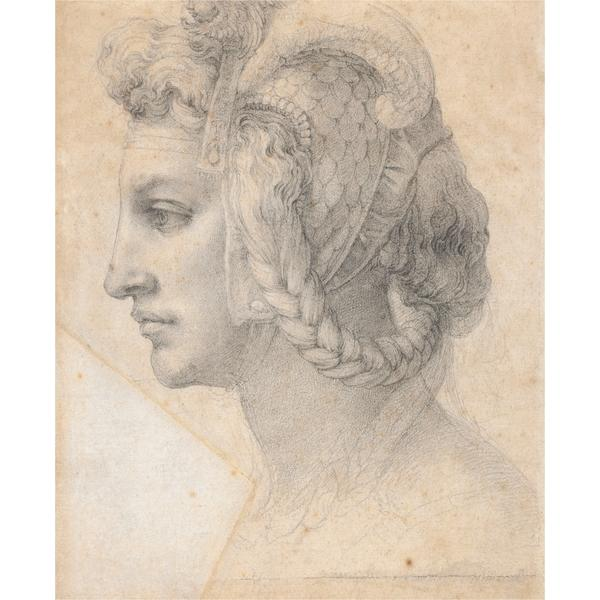 Ideal head of a woman, c.1525 - Michelangelo