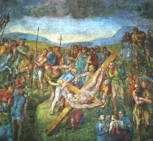 Martyrdom of St.Peter, c.1550 - Michelangelo