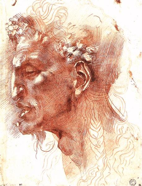 Satyr's Head - Michelangelo