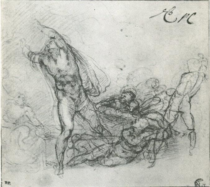 "Study for a ""Resurrection of Christ"", 1533 - Мікеланджело"