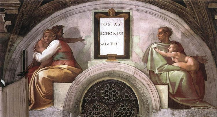The Ancestors of Christ: Jechoniah, Shealtiel, 1512 - Michelangelo