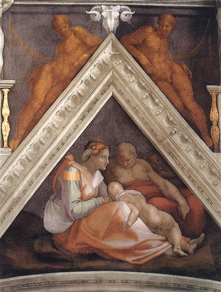 The Ancestors of Christ: Zerubbabel, 1509 - Michelangelo