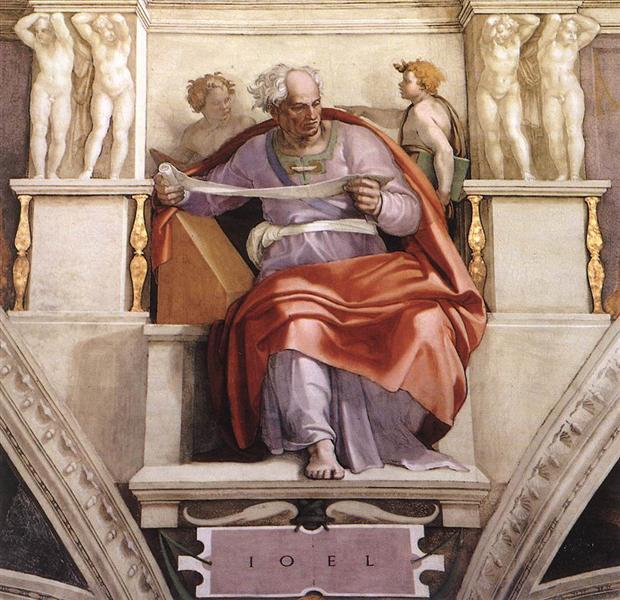 Пророк Йоіл, 1509 - Мікеланджело