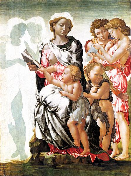 The Virgin and Child with Saint John and Angels (Manchester Madonna), c.1497 - Michelangelo