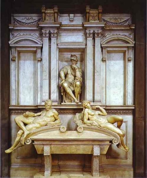 Tomb of Lorenzo de Medici, 1524 - 1531 - Michelangelo