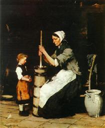Churning Woman - Mihály Munkácsy