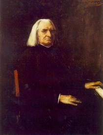 Portrait of Franz Liszt - Mihály Munkácsy
