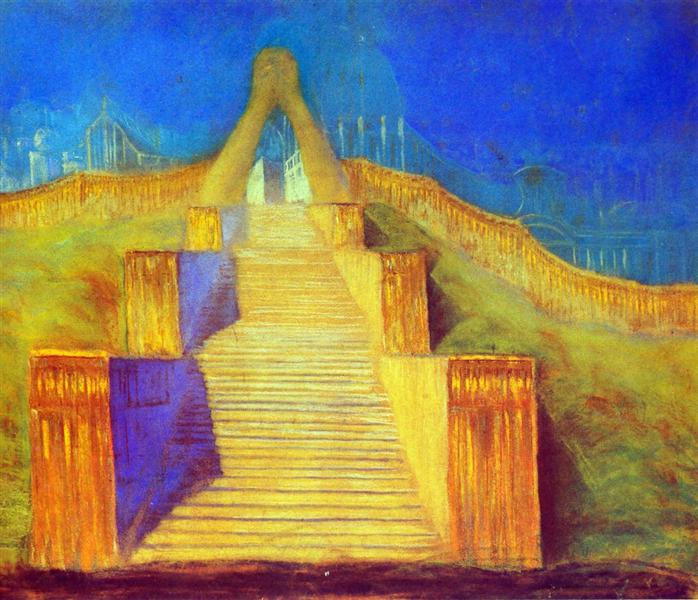 Deluge (I), 1904 - Mikalojus Konstantinas Ciurlionis