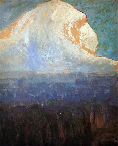 Mountain, 1906 - Mikalojus Konstantinas Ciurlionis