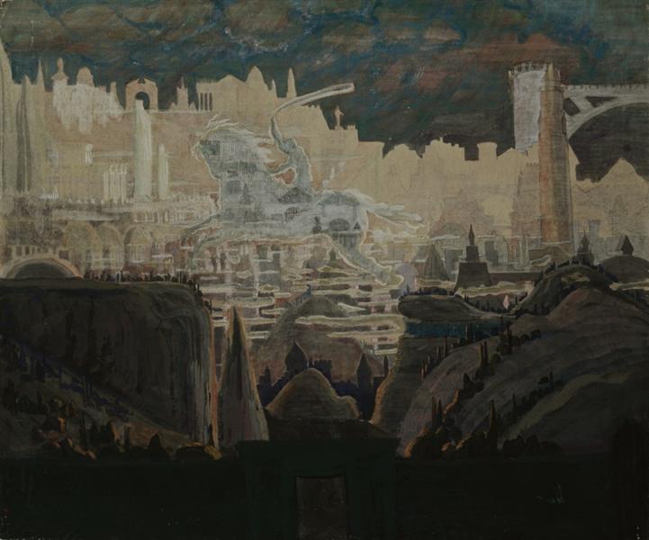 Prelude (The knight prelude), 1909 - Mikalojus Konstantinas Ciurlionis