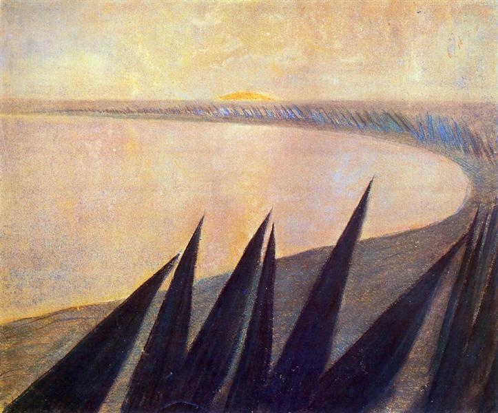 Sorrow (I), 1907 - Mikalojus Konstantinas Ciurlionis