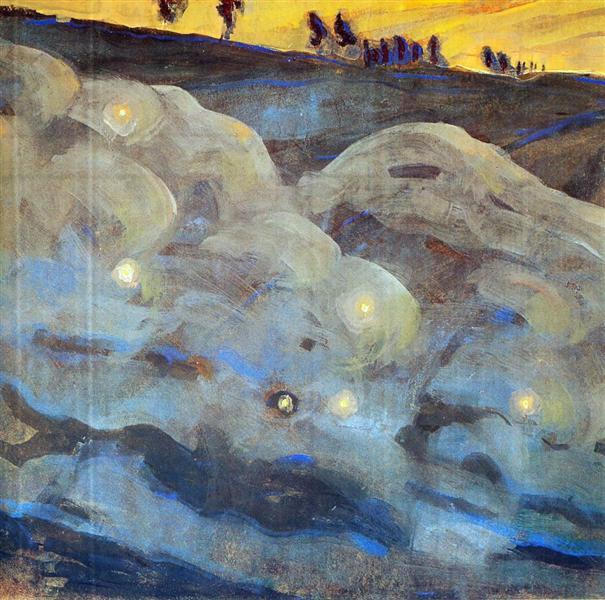 Sparks (I), 1906 - Mikalojus Konstantinas Ciurlionis