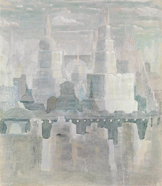 The city, 1908 - Mikalojus Konstantinas Ciurlionis