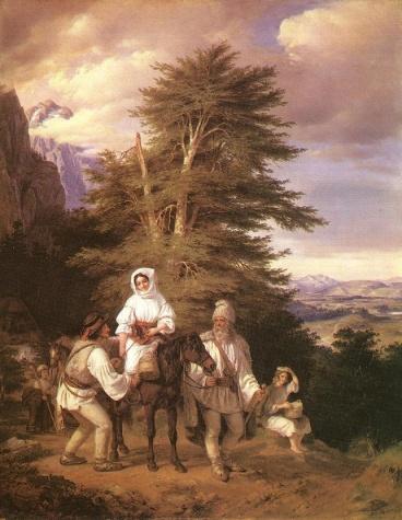 Romanian Family Going to the Fair, 1844 - Miklós Barabás