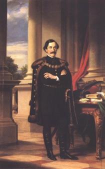 Standing Portrait of László Teleki - Miklós Barabás