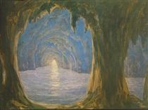 The Blue Grotto - Miklós Barabás