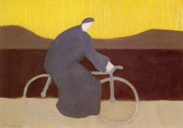 Bicycle Rider by the Loire, 1954 - Milton Avery