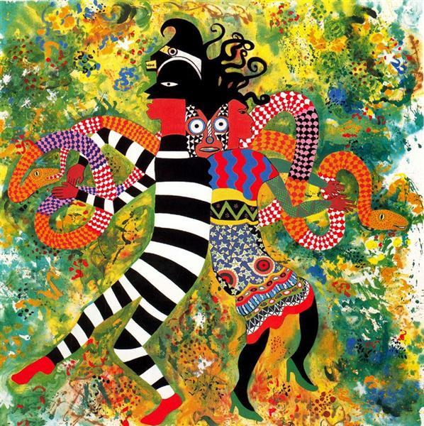 The Garden of Eden - Miriam Schapiro