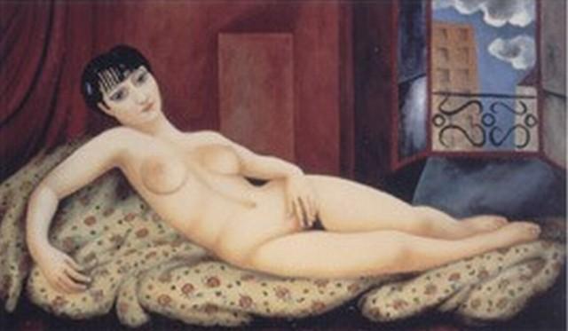 Большая лежащая обнаженная, Кики, 1924 - Моис Кислинг
