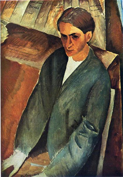 Portrait of Andre Salmon, 1912 - Moise Kisling