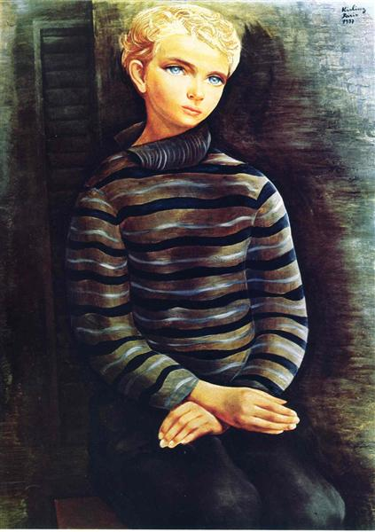 Young blond boy, 1937 - Moise Kisling
