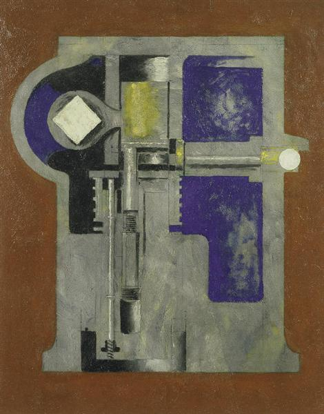 Untitled (Mechanical Abstraction), 1916 - Morton Shamberg