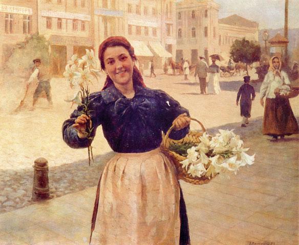 Kiev Flower Girl - Mykola Pymonenko