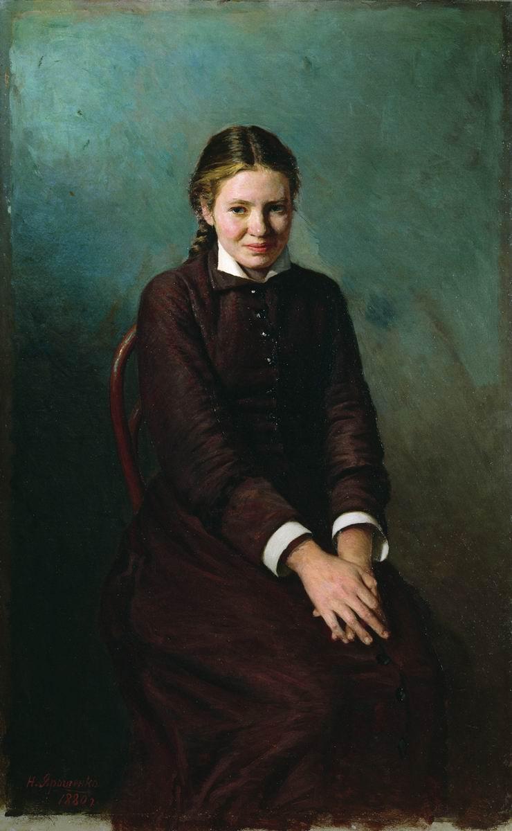 Artistes ukrainiens Girl-student-1883