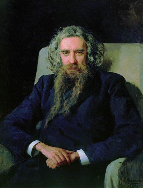 Portrait of Vladimir Solovyov, 1892 - Николай  Ярошенко