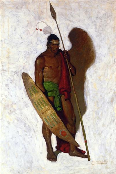 African Warrior, c.1913 - N.C. Wyeth