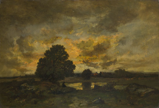 Common with Stormy Sunset - Narcisse-Virgile Díaz de la Peña