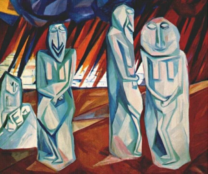 Pillars of salt, 1908 - Natalia Goncharova