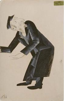 """Costume design for """"The Dybbuk"""", Habimah Theater, Moscow - Nathan Altman"""