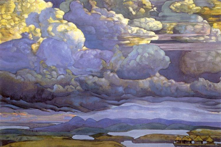 Battle in the Heavens, 1912 - Nicholas Roerich
