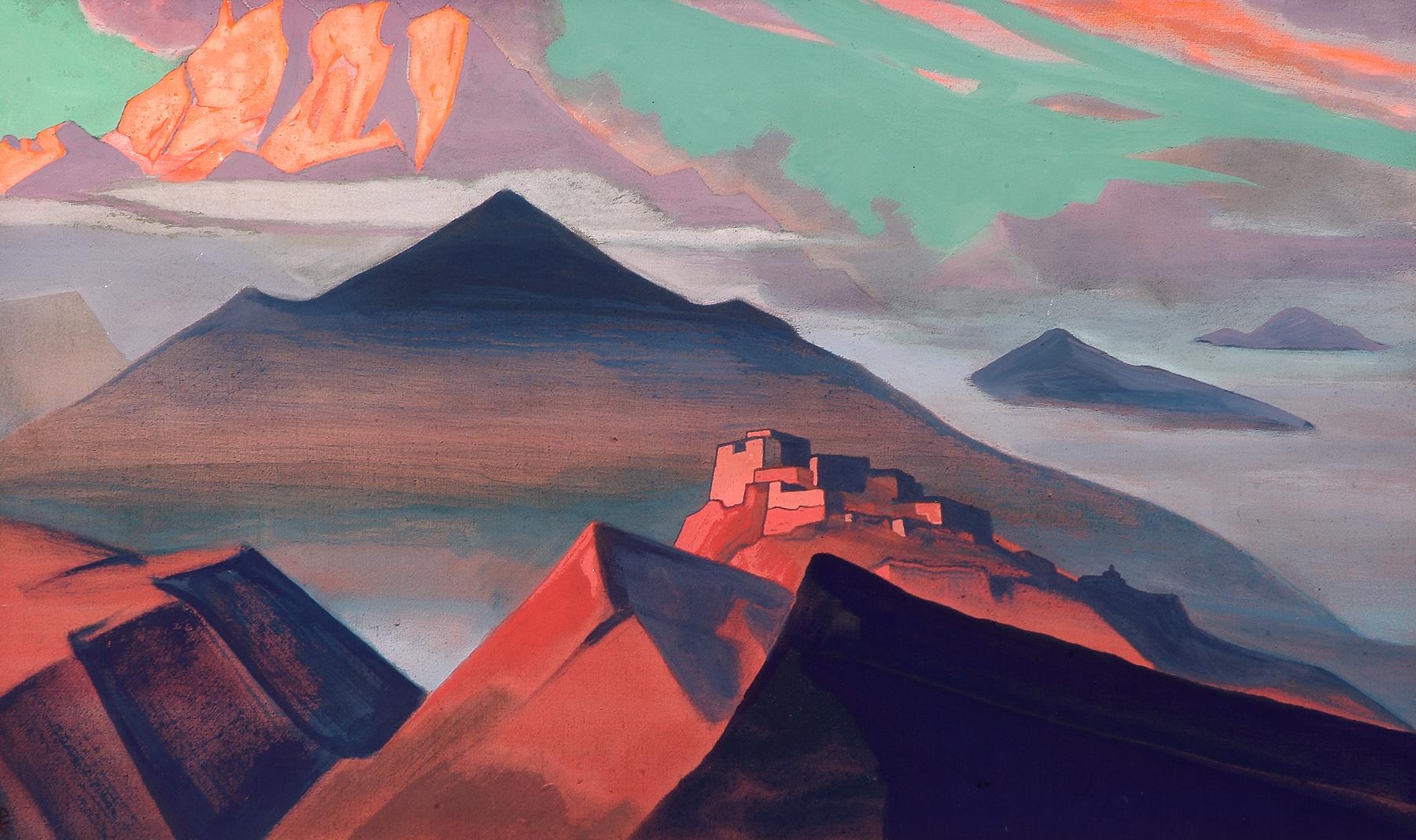 Tent Mountain 1933 - Nicholas Roerich & Tent Mountain 1933 - Nicholas Roerich - WikiArt.org