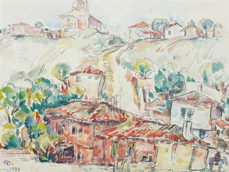 Balcic Houses, 1933 - Nicolae Darascu
