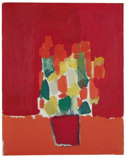 Fleurs rouges, 1952 - 尼古拉·德·斯塔埃尔