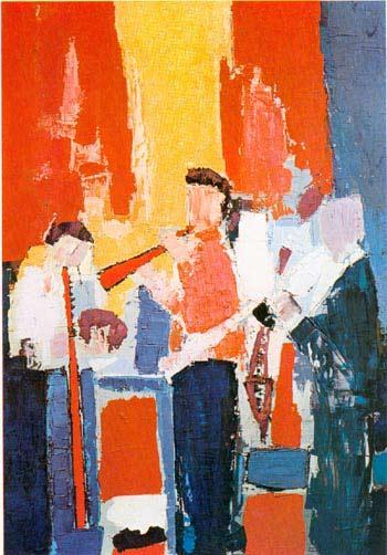 Les Musiciens, 1952 - Nicolas de Staël