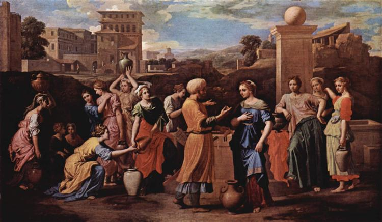Eliezer and Rebecca at the Well, 1648 - Nicolas Poussin