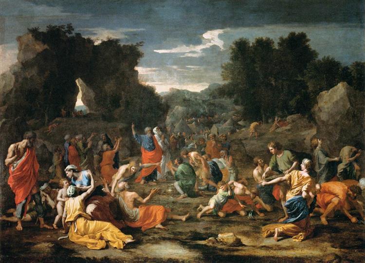 Gathering of Manna, c.1637 - Nicolas Poussin