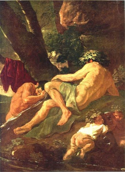 Midas washing at the source of the River Pactolus, 1624 - Nicolas Poussin